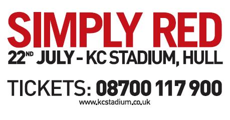 Click for Simple Red Tickets 22nd July 2006 at KC Stadium Hull